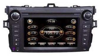 Штатное головное устройство Toyota Corolla 2007-2011 TID-8091