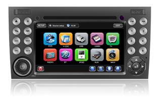 Штатное головное устройство Mercedes SLK / W171 (2003-2011 г.в.) TID-8996