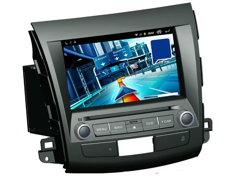 Штатное головное устройство ШГУ на Android Mitsubishi Outlander (2006-2011) / Peugeot 4007 (2007-2011) / Citroen C-Crosser HT-6033-A