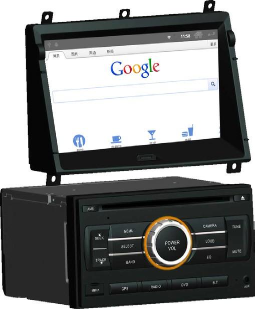 Штатное головное устройство ШГУ на Android Nissan X-Trail / Patrol (2011+) HT-7743-A
