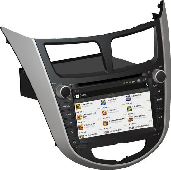 Штатное головное устройство ШГУ на Android 4 Hyundai Solaris / Accent / Verna (2010-2012) HT-6223-A