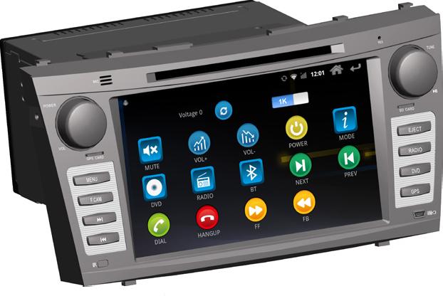 Штатное головное устройство ШГУ на Android 4 Toyota Camry v40 (2006-2011) HT-8818-A