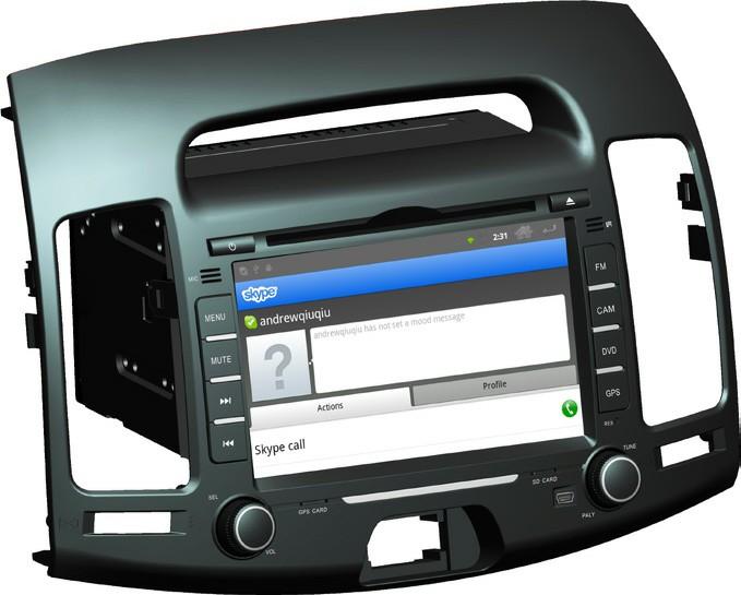 Штатное головное устройство ШГУ на Android Hyundai Elantra (2006-2010) HT-6011-A