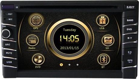 2-DIN Универсальная магнитола с GPS X-Sound XS-6200