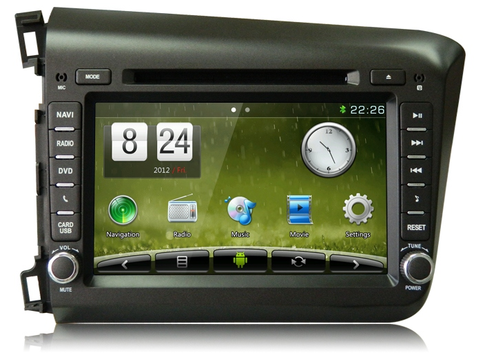 Штатное головное устройство ШГУ на Android 4 Honda Civic (2012+) X-Sound AS-8671HD