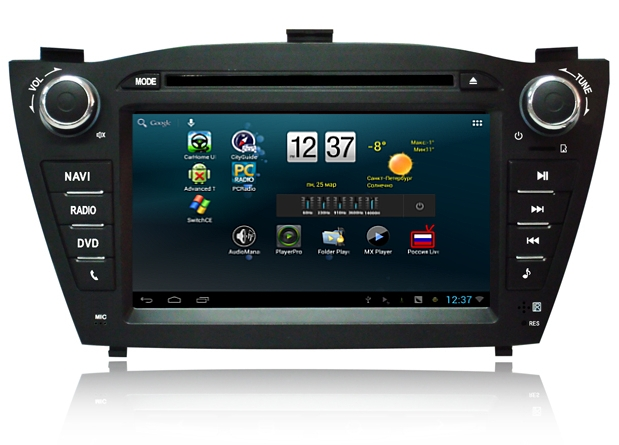 Штатное головное устройство ШГУ на Android 4 Hyundai Tucson / IX35 X-Sound AS-7067HD