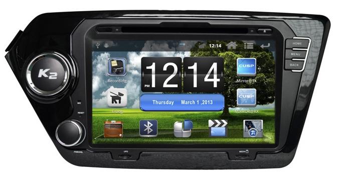 Штатное головное устройство ШГУ на Android Kia Rio (2011+) X-Sound A-8012A